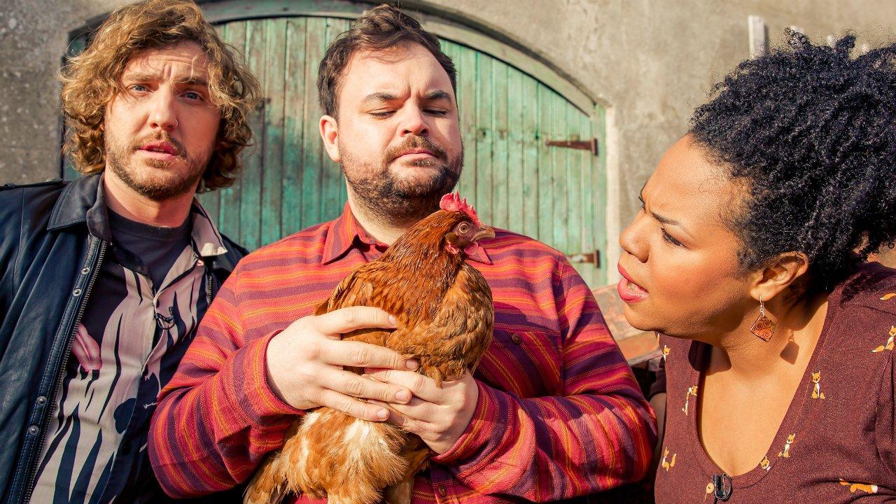 Seann Walsh, Lloyd Griffith and Desiree Burch host Netflix game show Flinch