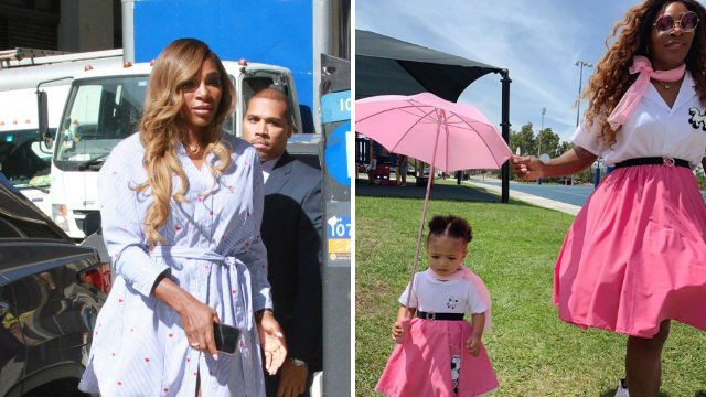 Serena Williams and daughter Olympia take on Grease in matching pink ladies outfits