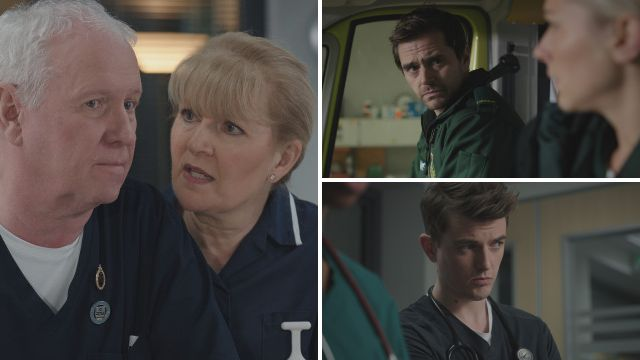 7 Casualty spoilers: Iain's back at work and Duffy faces up to her dementia