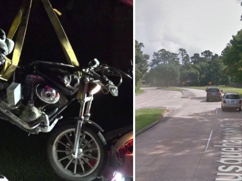 Road rage motorcyclist critically ill after crashing while giving woman the finger