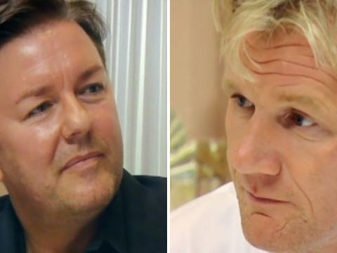 Ricky Gervais confronts Gordon Ramsay over brag he used 'pet' lambs in food