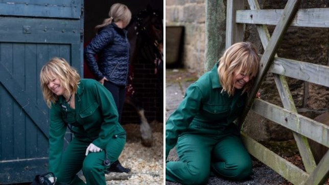 Rhona collapses in Emmerdale