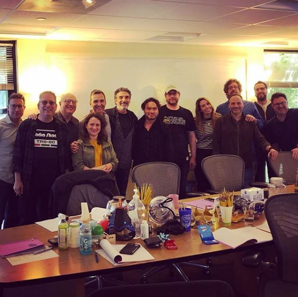 The Big Bang Theory star Johnny Galecki shares picture of writer's room