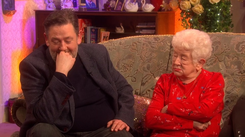 Johnny Vegas and his mum Patricia on All Round To Mrs Brown's