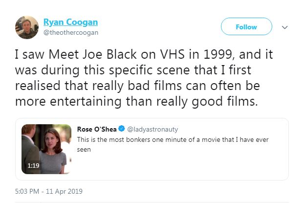 Agree, remarkable meet joe black sex clip for that