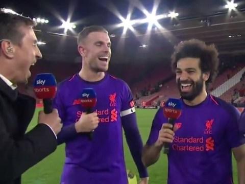 Gary Neville reveals Jordan Henderson's cheeky dig following Liverpool's win over Southampton