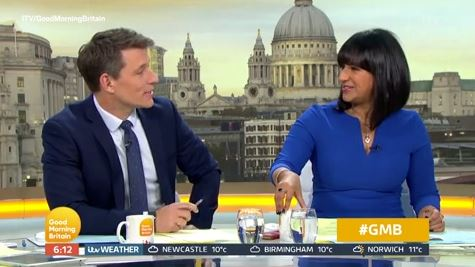 GMB's Ranvir Singh suggests she split from husband after discovering something on his phone