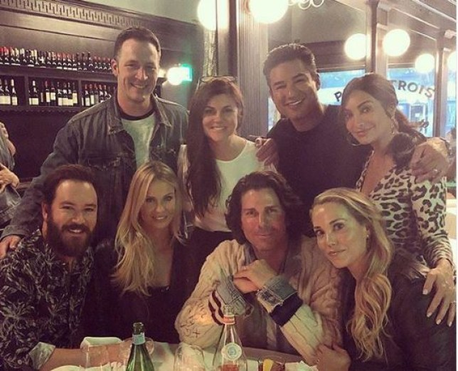 Saved By The Bell's Mark-Paul Gosslear, Elizabeth Berkley, Mario Lopez and Tiffani Thiessen (Picture: Instagram)