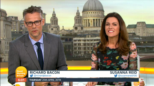 Richard Bacon and Susanna Reid Good Morning Britain