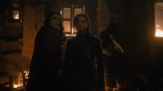 Melisandre and Arya Game of Thrones
