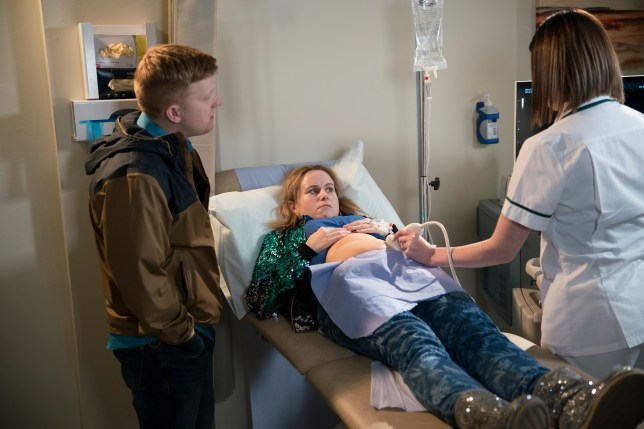 gemma winter, played by dolly rose campbell, and chesney brown, played by sam aston, on coronation street