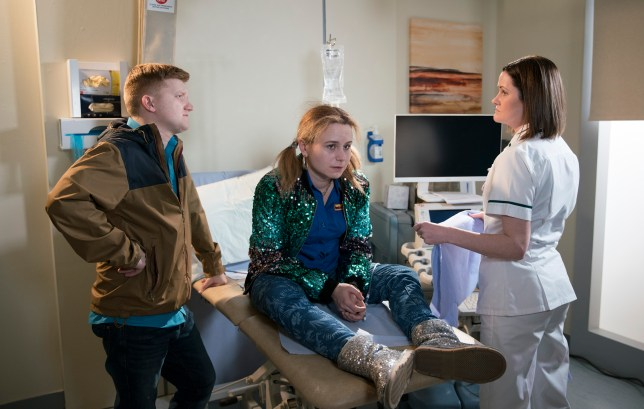 gemma winter, played by dolly-rose campbell, and chesney brown, played by Sam Aston, from corrie