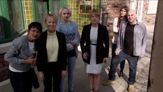 Jenny gets a shock in Coronation Street