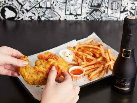You can now buy the UK's first ever Cava-battered chicken