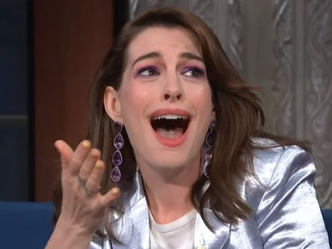 Anne Hathaway is all of us as she meets RuPaul and immediately bursts into tears