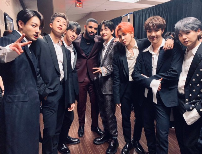 BTS and Drake at Billboard Music Awards 2019