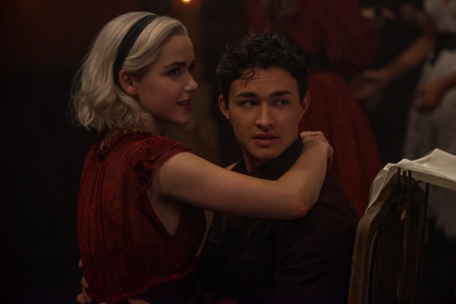 Kiernan Shipka and Gavin Leatherwood