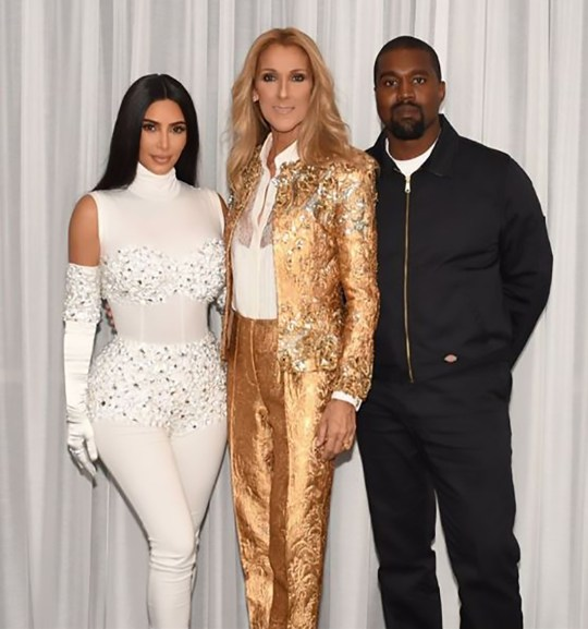 Kim Kardashian and Kanye West meet Celine Dion in Las Vegas