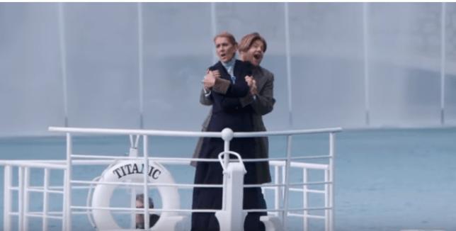 Celine Dion and James Corden recreate iconic Titanic moment for Carpool Karaoke in Las Vegas