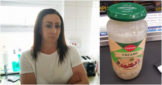 Rianne Ward, 39, said she 'smelled something odd' in the vegetarian lasagne sauce she bought from a supermarket near her home in Derby.