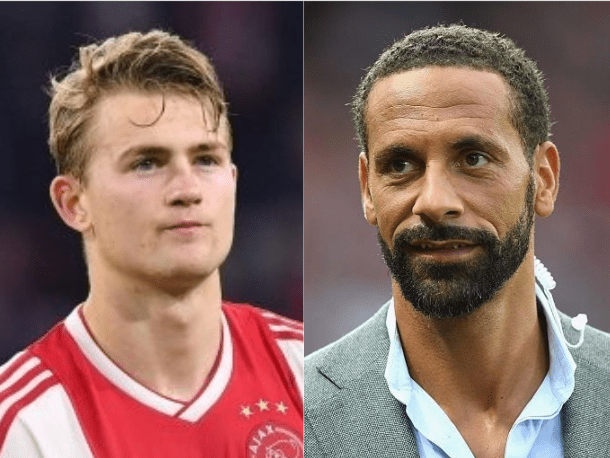 Manchester United transfer target Matthijs de Ligt 'likes' Rio Ferdinand's post celebrating Champions League win