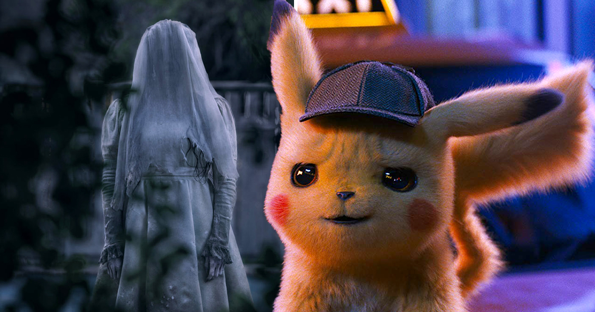 A still from The Curse Of La Llorona and Detective Pikachu
