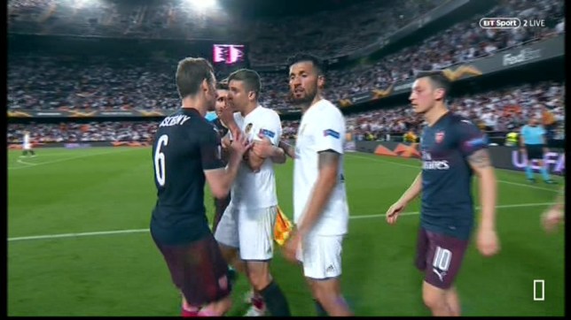 Gabriel Paulista was involved in a scuffle with Arsenal's players