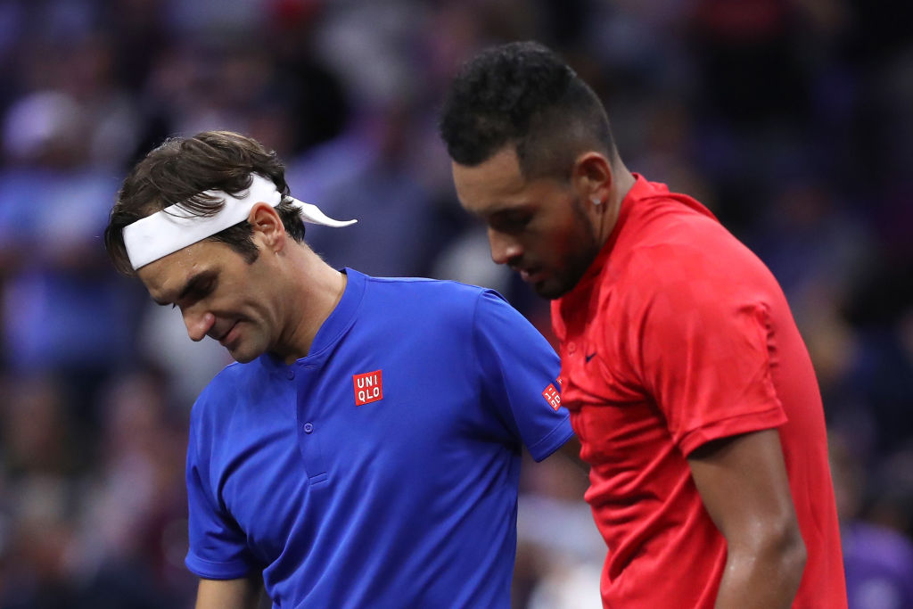 Roger Federer dismisses calls for Nick Kyrgios to be suspended after throwing a chair