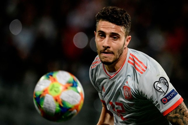 Spain's defender Mario Hermoso eyes the ball during the Euro 2020 Group F qualifying football match Malta vs Spain on March 26, 2019 at the Ta' Qali Stadium in Malta. (Photo by Filippo MONTEFORTE / AFP) (Photo credit should read FILIPPO MONTEFORTE/AFP/Getty Images)