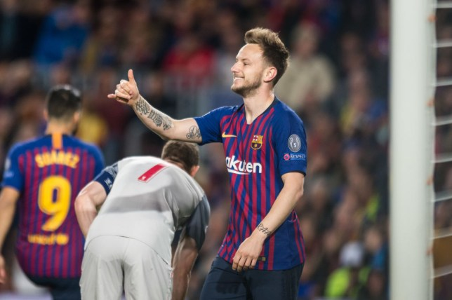 BARCELONA, SPAIN - MAY 01: Ivan Rakitic of FC Barcelona gestures during the UEFA Champions League Semifinal match between FC Barcelona and FC Liverpool at Camp Nou on May 01, 2019 in Barcelona, Spain. (Photo by TF-Images/Getty Images)