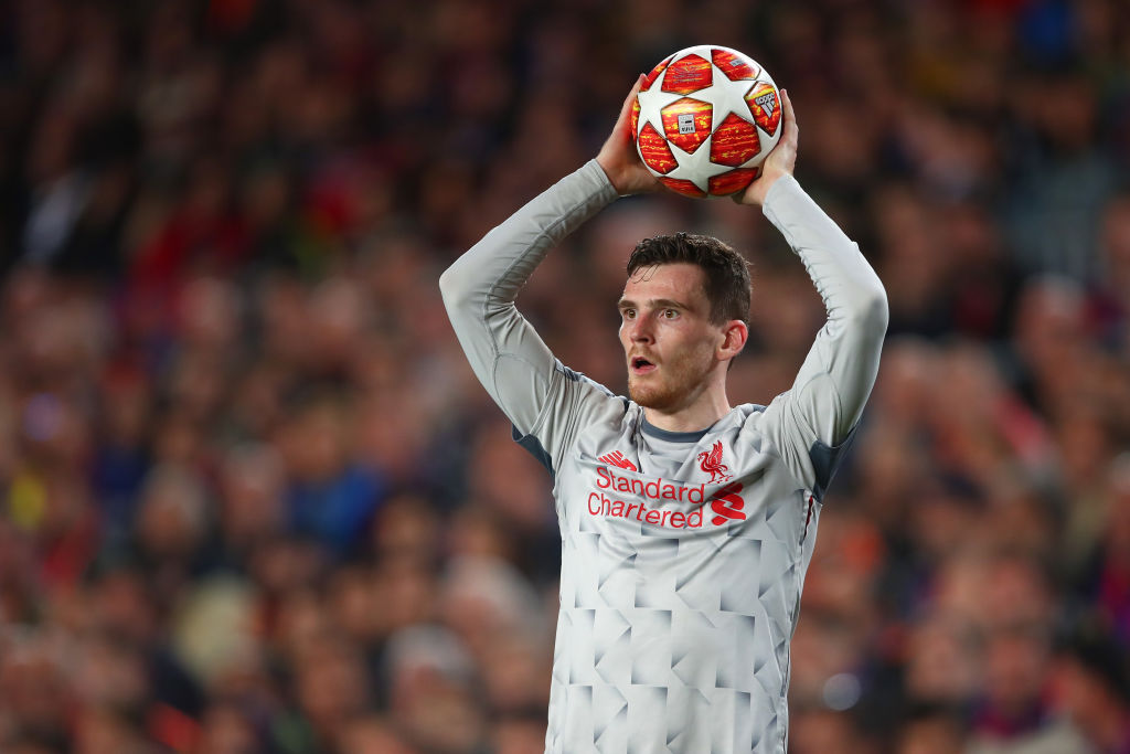 Andrew Robertson calls on Liverpool to avoid Champions League hangover after Barcelona loss