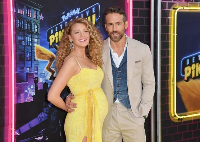 Blake Lively and Ryan Reynolds at Detective Pikachu
