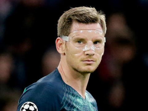 Spurs defender Jan Vertonghen delivers injury update after leaving Johan Cruyff Arena on crutches
