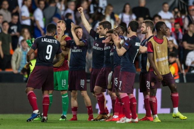 Arsenal face Chelsea in the Europa League final at the end of the month