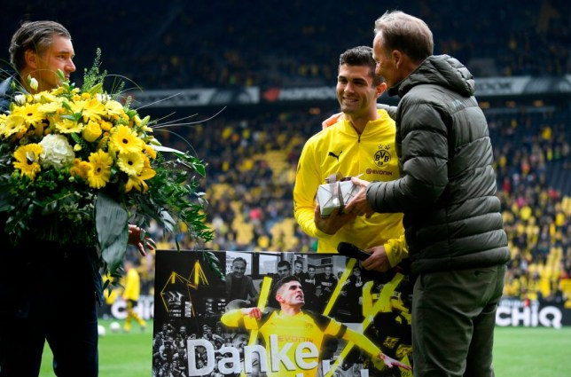 Borussia Dortmund give Christian Pulisic emotional farewell ahead of Chelsea transfer