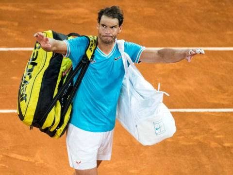 Rafael Nadal reacts to Stefanos Tsitsipas defeat in Madrid Open semi-finals
