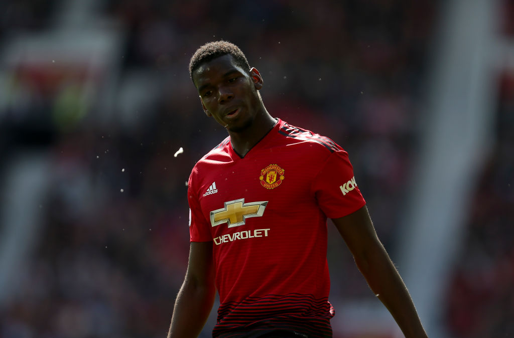 Paul Pogba was involved in a heated altercation with Manchester United fans (Picture: Getty)
