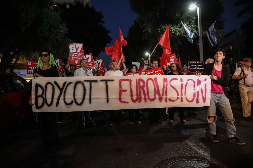 Protests in Israel at Eurovision
