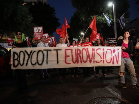'Free Palestine' protest held outside Eurovision venue amid calls for Israel boycott