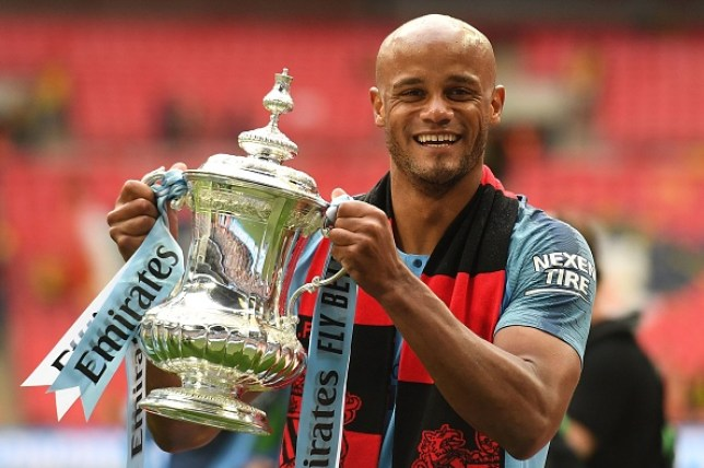 Vincent Kompany spent 11 years at Manchester City