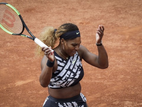 Frustrated Serena Williams fights back to avoid shock French Open exit