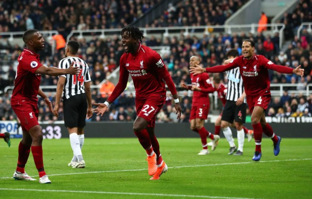 Liverpool scored late on through Divock Origi to keep their title dreams alive