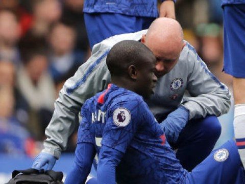 N'Golo Kante limps out of Chelsea clash against Watford after just ten minutes