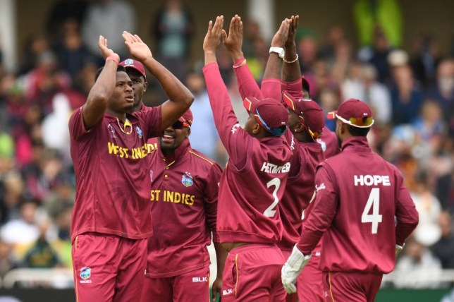 West Indies' Oshane Thomas took four wickets on his World Cup debut as Pakistan were thrashed at Trent Bridge