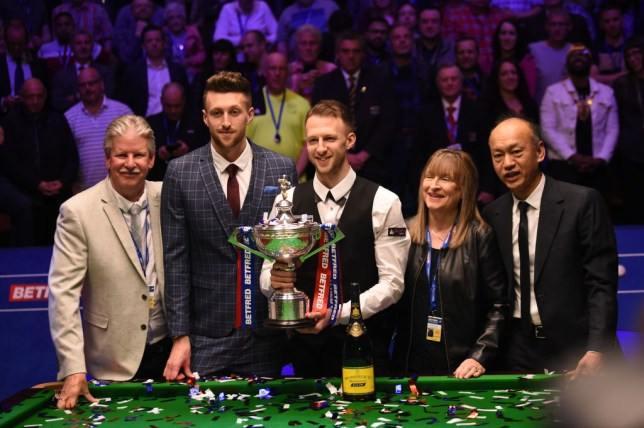 Judd Trump and his family at the Crucible