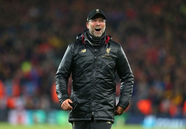 Jurgen Klopp roars in delight after Liverpool's victory over Barcelona
