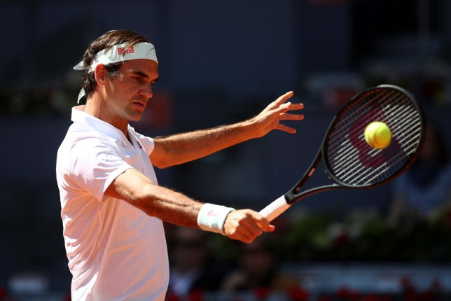 Roger Federer was beaten by Gael Monfils at the Madrid Open
