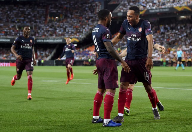Alexandre Lacazette and Pierre-Emerick Aubameyang have scored a combined total of 15 goals in the Europa League this season