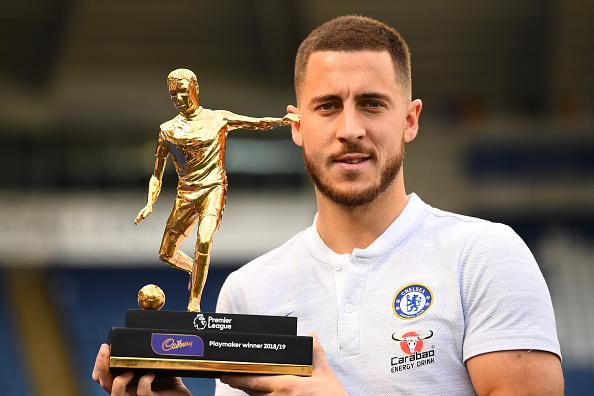 Eden Hazard won the Premier League Playmaker of the Year