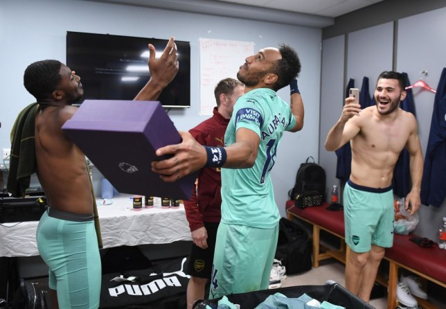 Pierre-Emerick Aubameyang's double saw him share the Golden Boot with Mohamed Salah and Sadio Mane